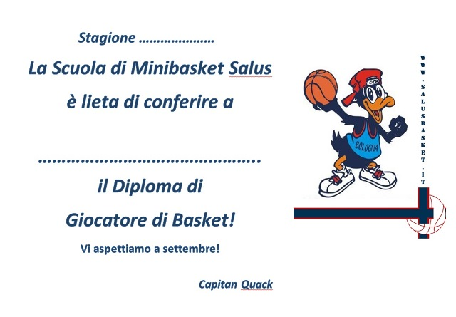 diploma minibasket